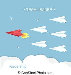 Leadership, team leader concept.