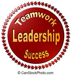 Leadership Teamwork & Success (red)