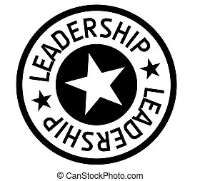 Leadership typographic stamp. Typographic sign, badge or...