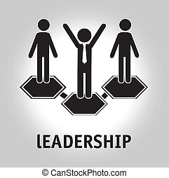 leadership design over gray background vector illustration