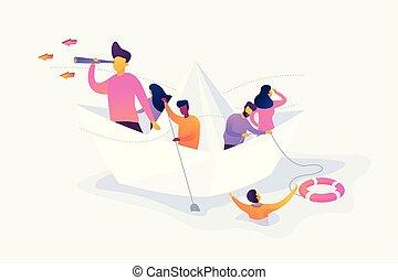 Leadership vector creative concept illustration.