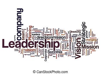 Leadership vision mission strategy concept background on ...