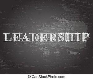 Leadership Word Blackboard