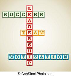 leadership word block - leadership and related word design...