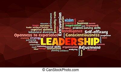leadership Word Cloud concept illustration