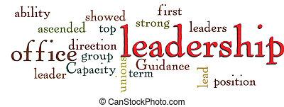 leadership word cloud - leadership business qualities word...