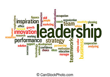 Leadership word cloud - Leadership in business future...