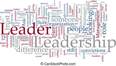 Leadership word cloud - Word cloud concept illustration of ...