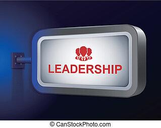 leadership word on billboard