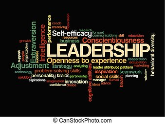 leadership Word Tag Cloud leader attribute pattern concept