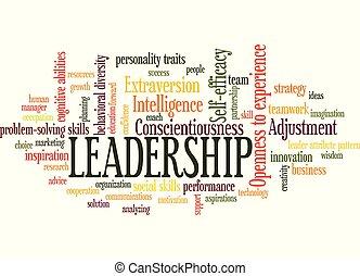 Leadership Word Tag Cloud leader attribute pattern concept