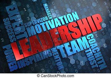 Leadership. Wordcloud Concept.