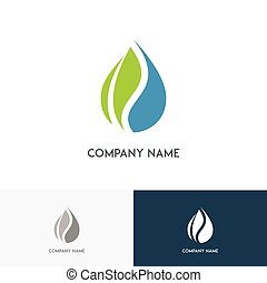 Leaf and drop ecology logo