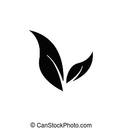 Leaf and vegetarian icon. Design template vector