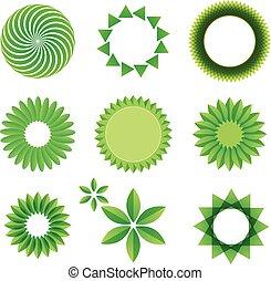 Leaf art green concept