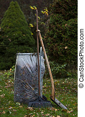leaf bag cart