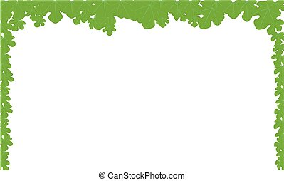 Leaf Border - A leaf style page border over a white...