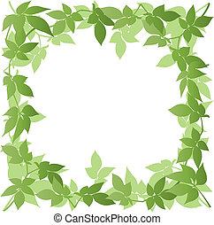 Leaf Border - A Vector Leaf Border Frame