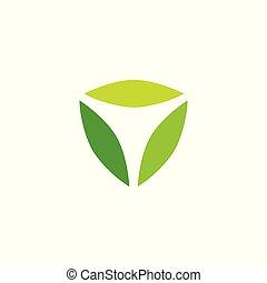 leaf box cube nature logo vector download