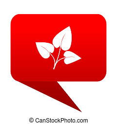 leaf bubble red icon