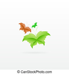 Leaf Butterfly Concept