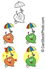 Leaf Cartoon Character