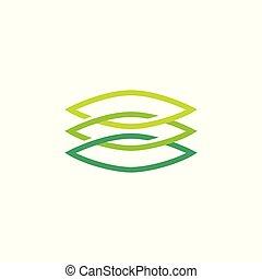 leaf chain blockchain eco nature logo vector download