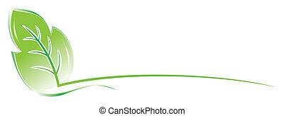 Leaf design - Template with leaf for environmental design