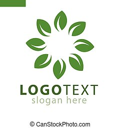 Leaf flower logo icon vector template