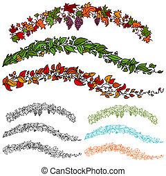 Leaf Flower Vine Set