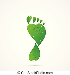 Leaf Footprint Illustration