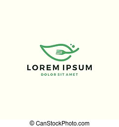leaf fork logo vector icon download
