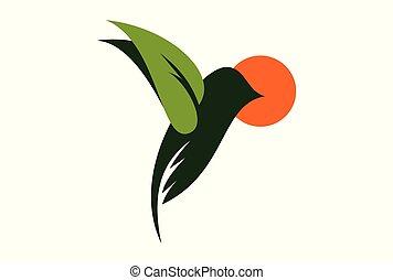 leaf green bird logo