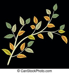 Leaf green tree vector illustration