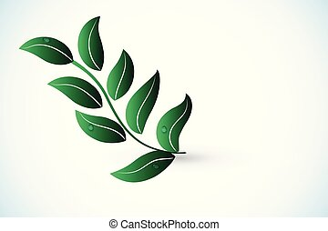 Leaf health nature logo vector