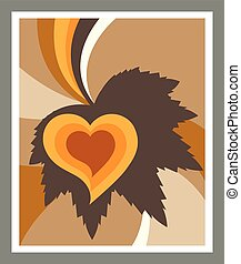Leaf heart abstract