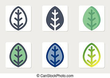leaf icon in isolated on white background. for your web site design, logo, app, UI. Vector graphics illustration and editable stroke. EPS 10.