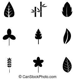 leaf icon set