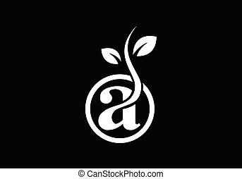 Leaf icon sign symbol, green logo, Organic logo