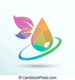 leaf icon symbol nature vector sign element