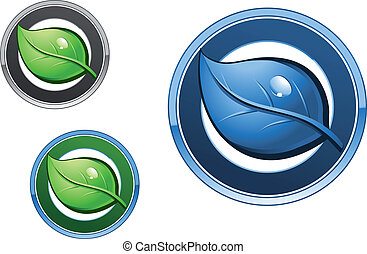 Leaf icons for ecology design