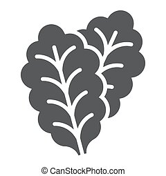 Leaf Lettuce glyph icon, vegetable and diet, vegetarian sign, vector graphics, a solid pattern on a white background, eps 10.
