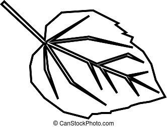 leaf line icon, outline vector sign, linear pictogram isolated on white. Symbol, logo illustration