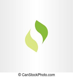 leaf logo green ecology icon symbol vector element