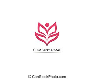Leaf lotus nature logo vector illustration