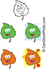 Leaf Mascot Characters-Collection
