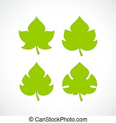Leaf natural vector icon