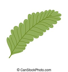 leaf nature cartoon icon in isolated style