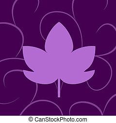 leaf of grape violet