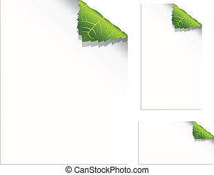 Leaf Pages - Curling leaf corners - pages and business cards...